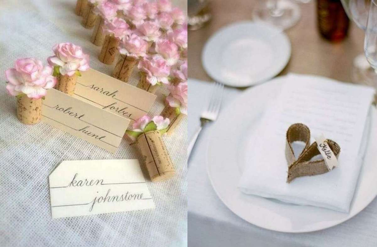 Segnaposto Con Nome Da Stampare segnaposto per il matrimonio fai da te: tante idee chic ma