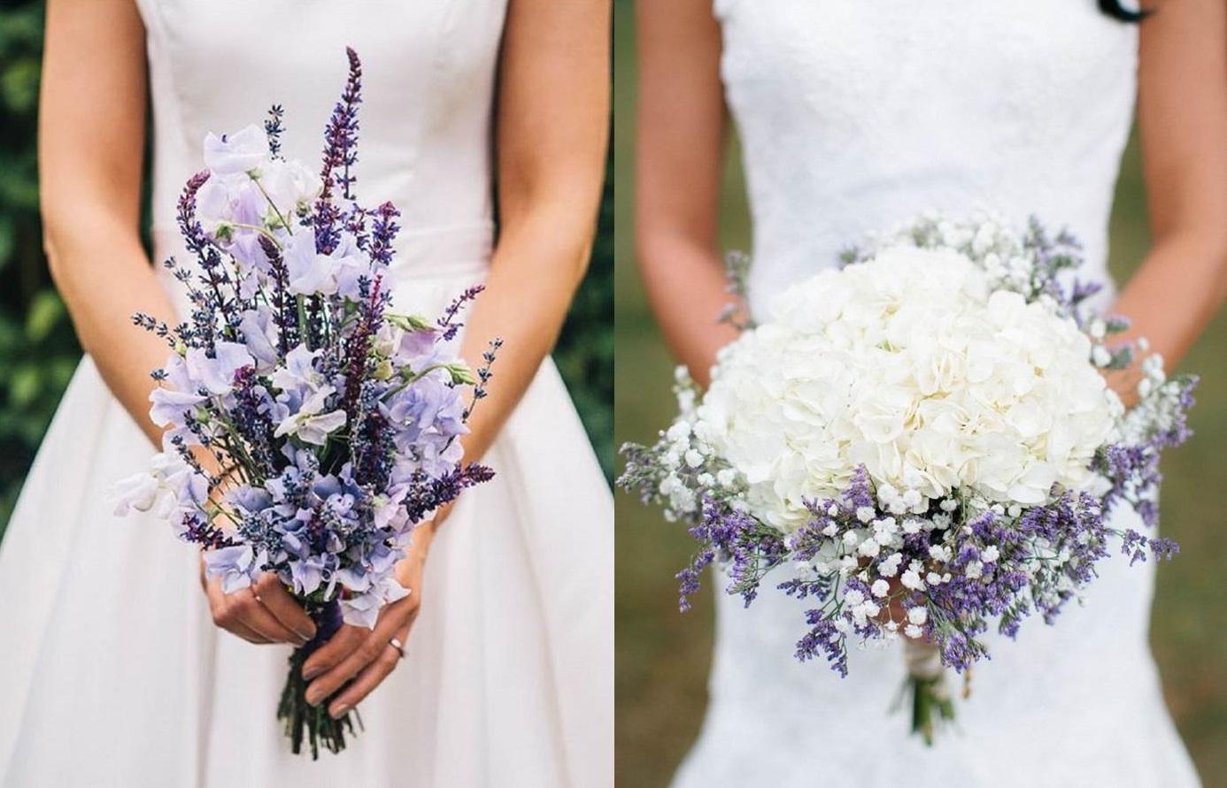 Bouquet con lavanda e altri fiori