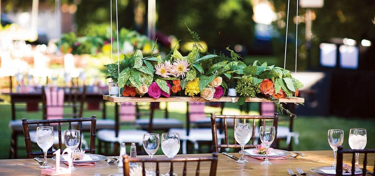 Decorazioni pendenti per i tavoli