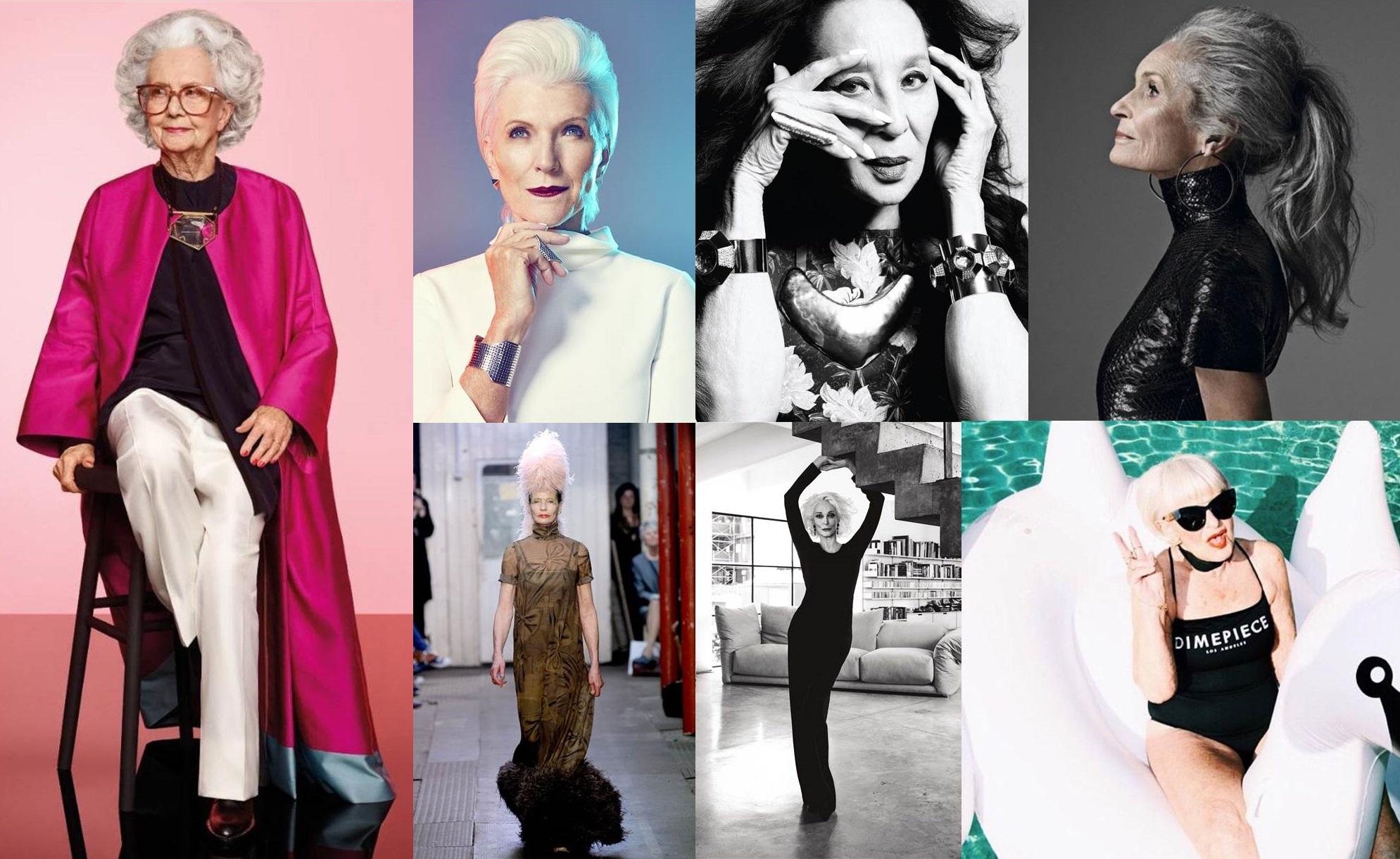 Bellezze senza età: le stupende modelle over 60