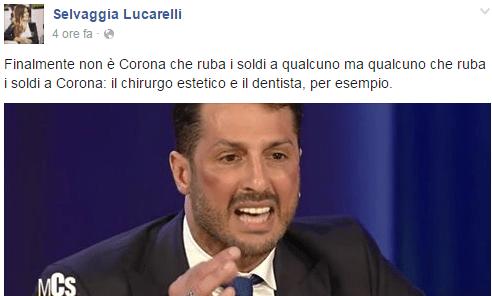 Lo sfottò di Selvaggia Lucarelli a Fabrizio Corona