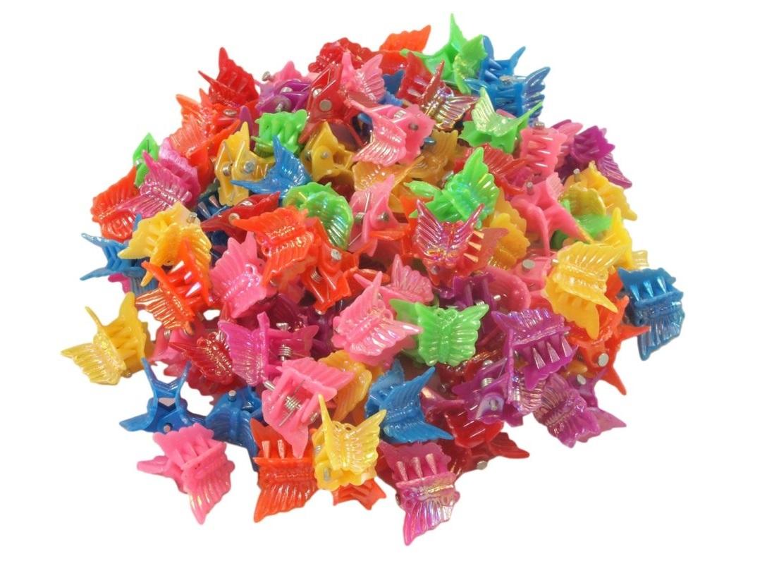Mollette multicolor a forma di farfalle