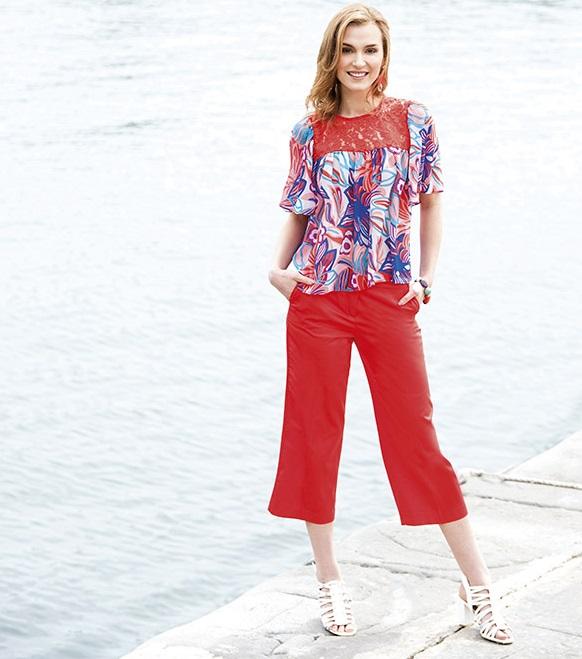 Pantaloni culotte Cannella