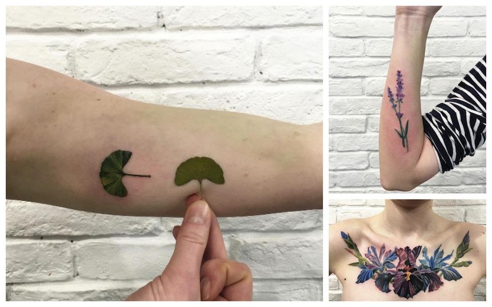 Tendenze tatuaggi 2016: botanical tattoo, la bellezza di fiori e foglie sulla pelle