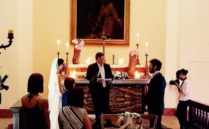 Francesco Montanari e Andrea Delogu sposi: le foto del matrimonio romantico