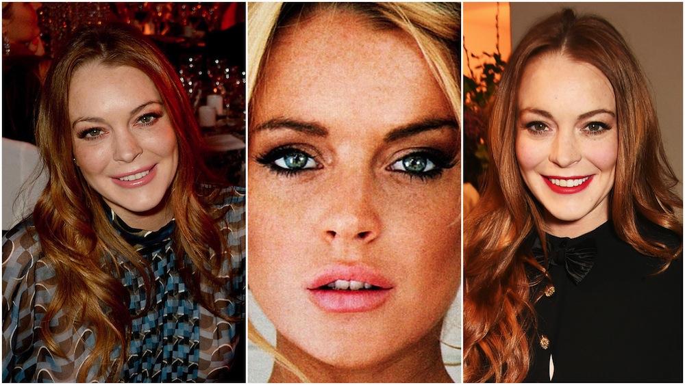 Lindsay Lohan make up
