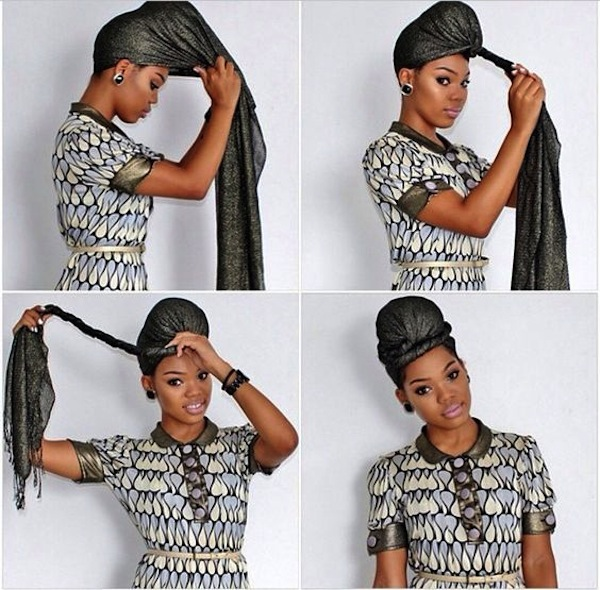 Tutorial turbante africano