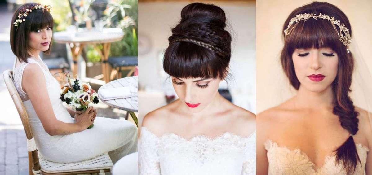 Acconciature da sposa con la frangia: le più chic per il giorno del sì [FOTO]
