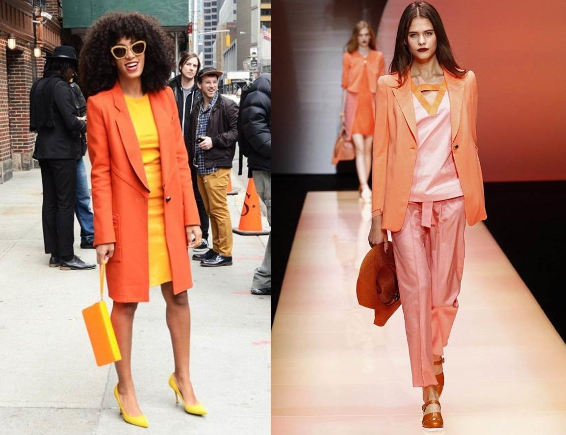 arancione e colori pastello
