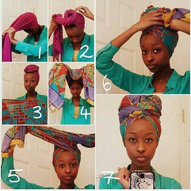 come mettere il turbante africano tutorial