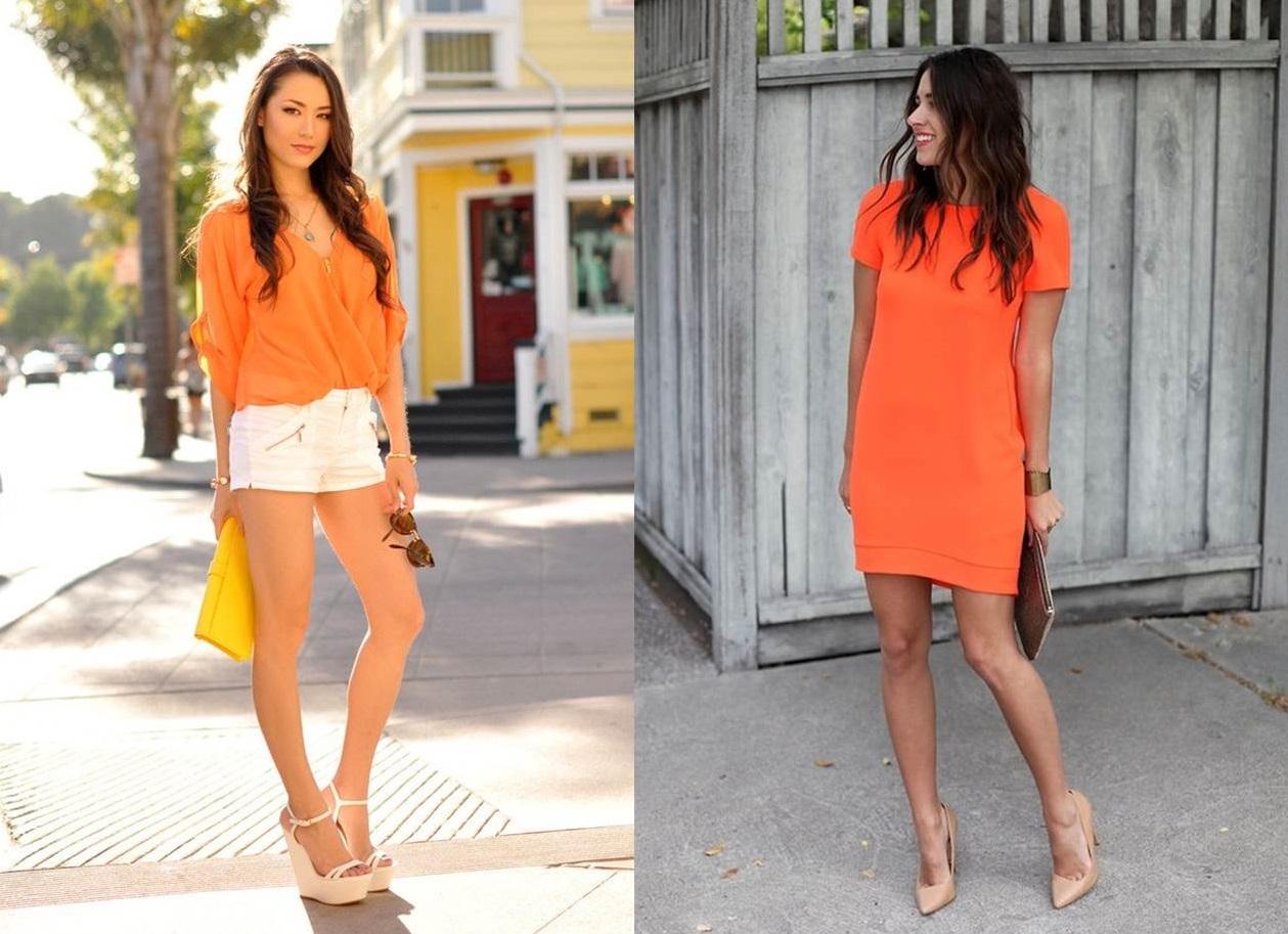 l'arancione e i colori chiari