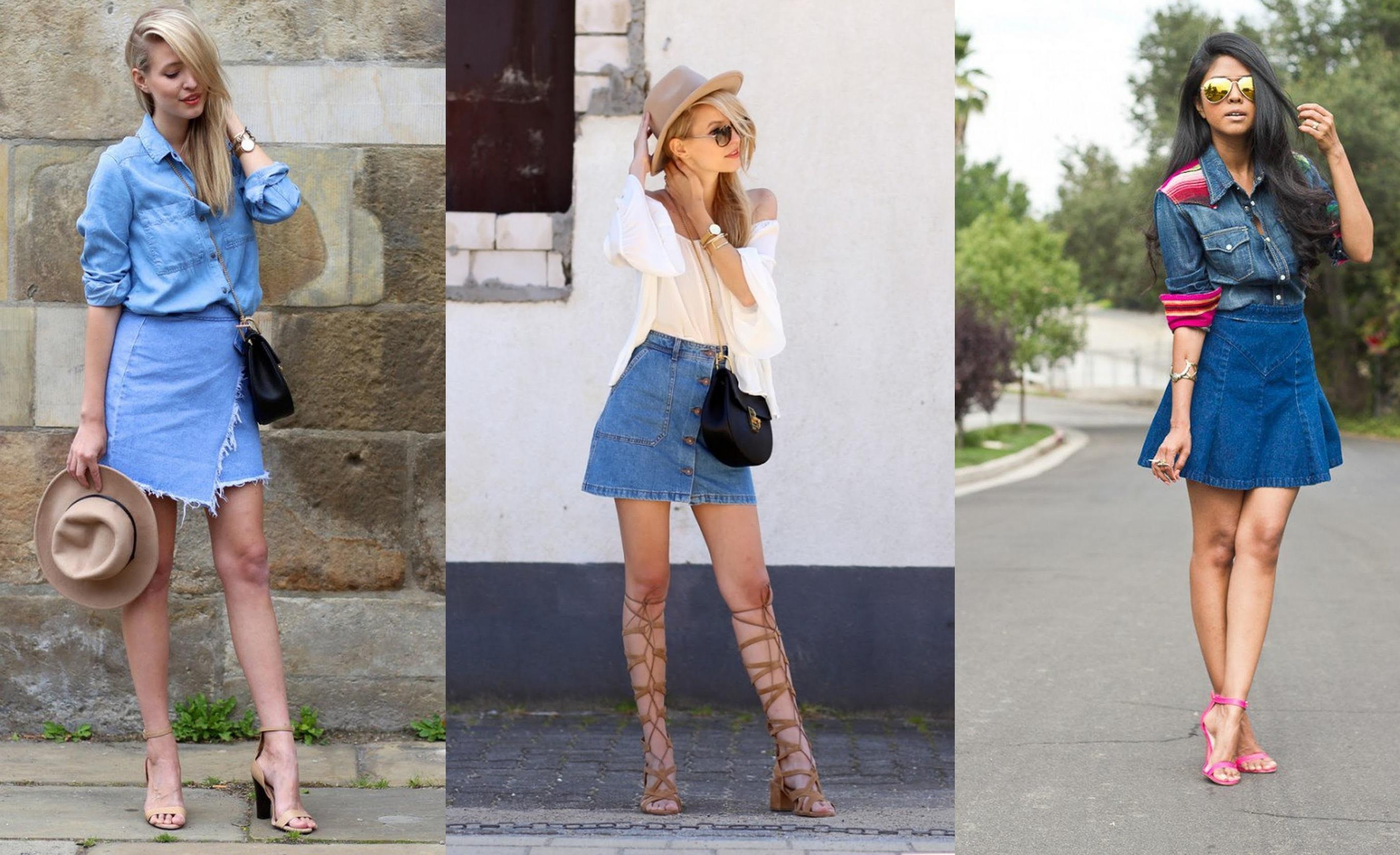 Sai abbinare la minigonna di jeans? [TEST]