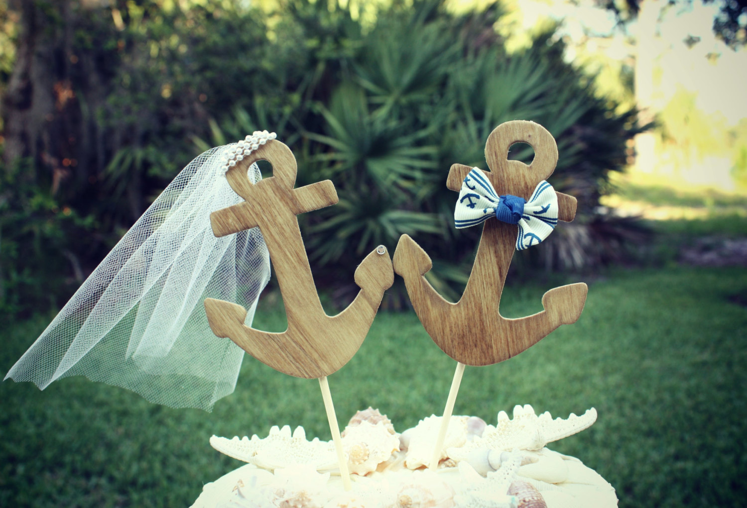 Cheap Beach Themed Wedding Cake Toppers