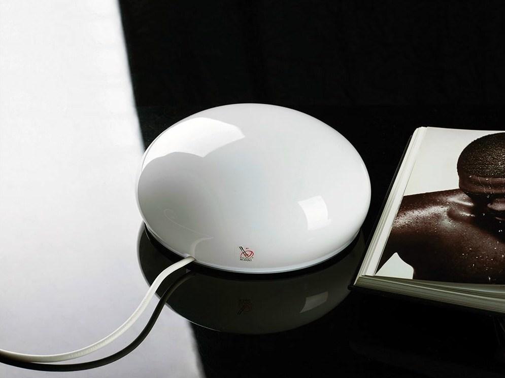 Lampada da comodino a LED in vetro soffiato CHIARA ILIDE italian light design