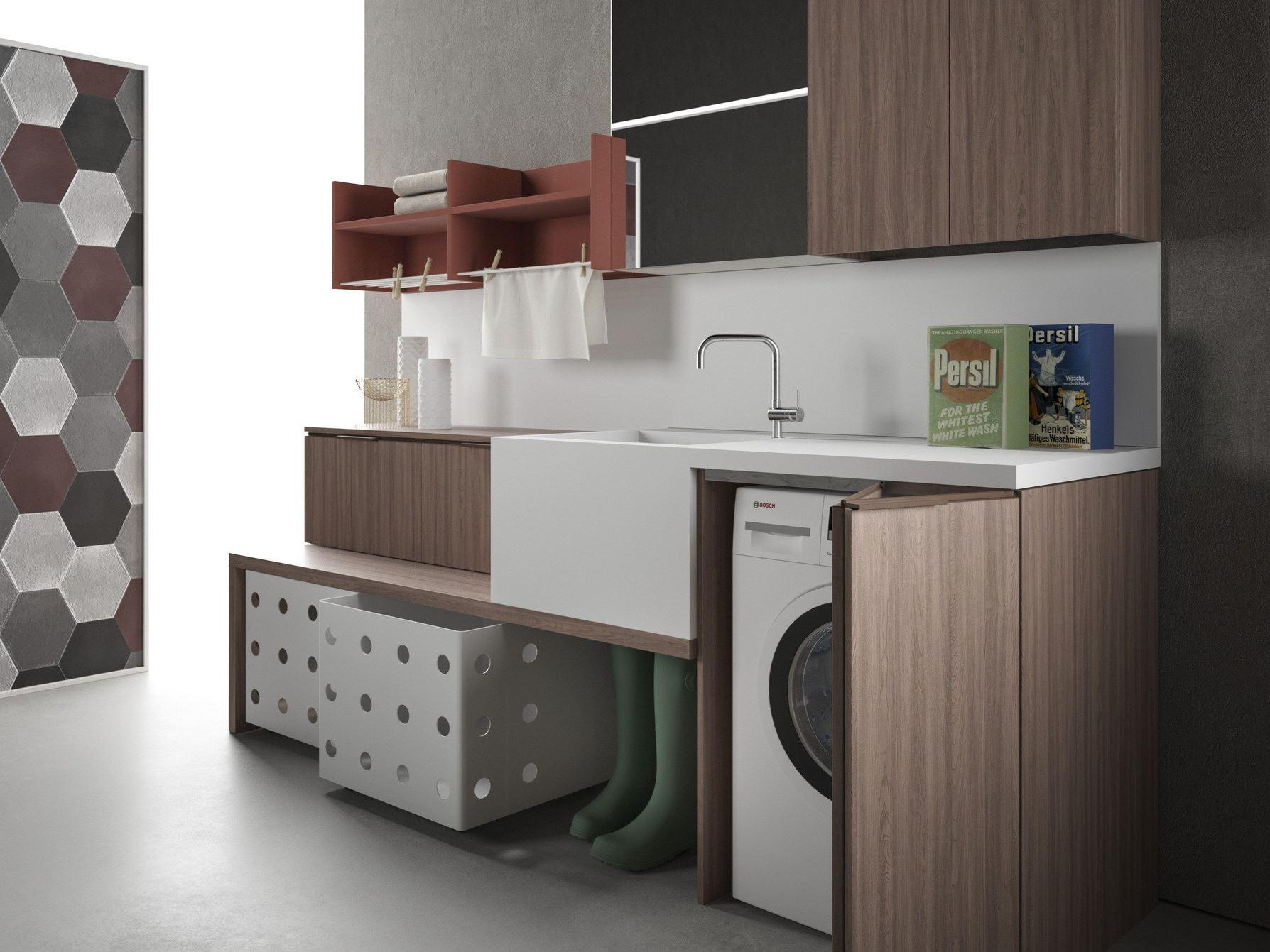 Mobile lavanderia componibile