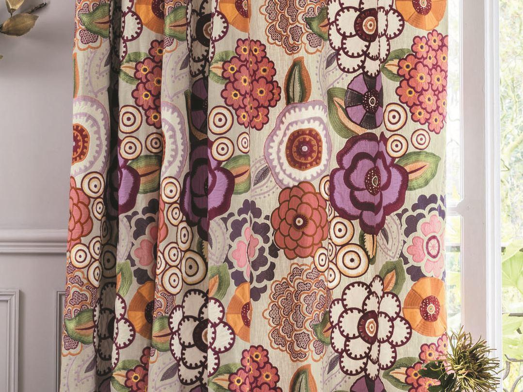 Tessuto multicolor con motivi floreali per tende MADRAGUE Zimmer + Rohde