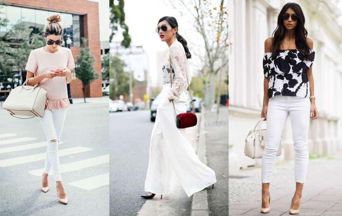 abbinamento con pantalone e giacca bianca donna