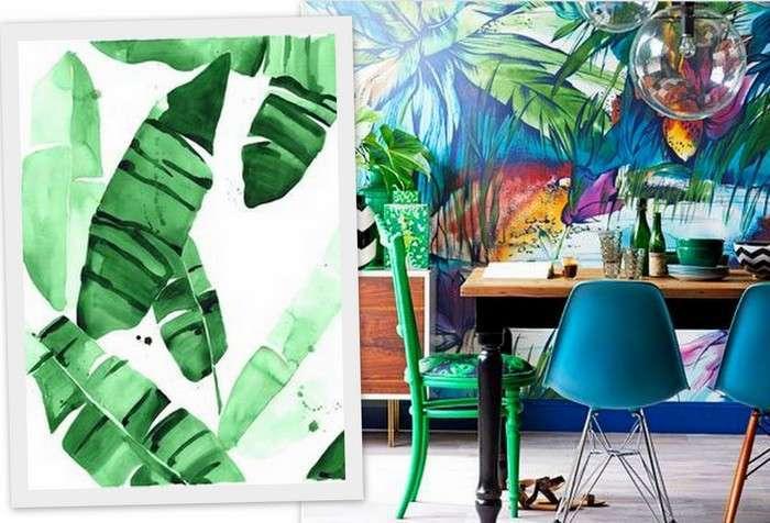 Colori darredo in stile tropical