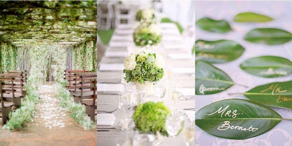 Decorazioni per un matrimonio in verde idee per gli for Decorazioni tavoli matrimonio