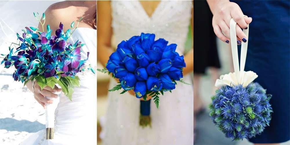 Matrimonio Azzurro E Blu : Bouquet blu per la sposa idee e consigli foto pourfemme