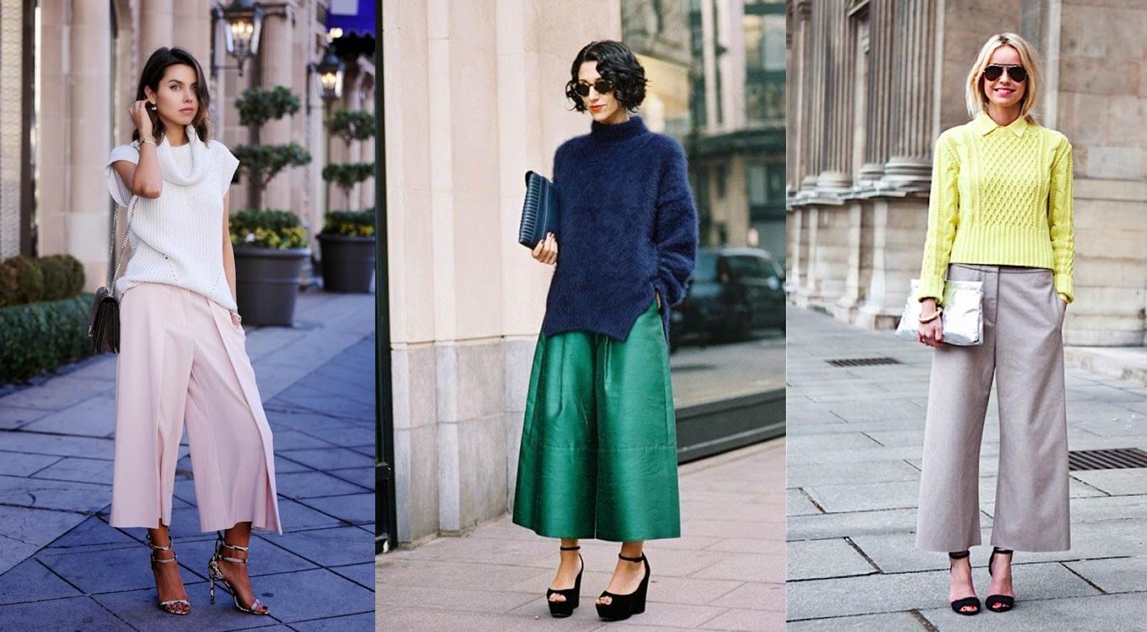 maglioni e pantaloni culotte