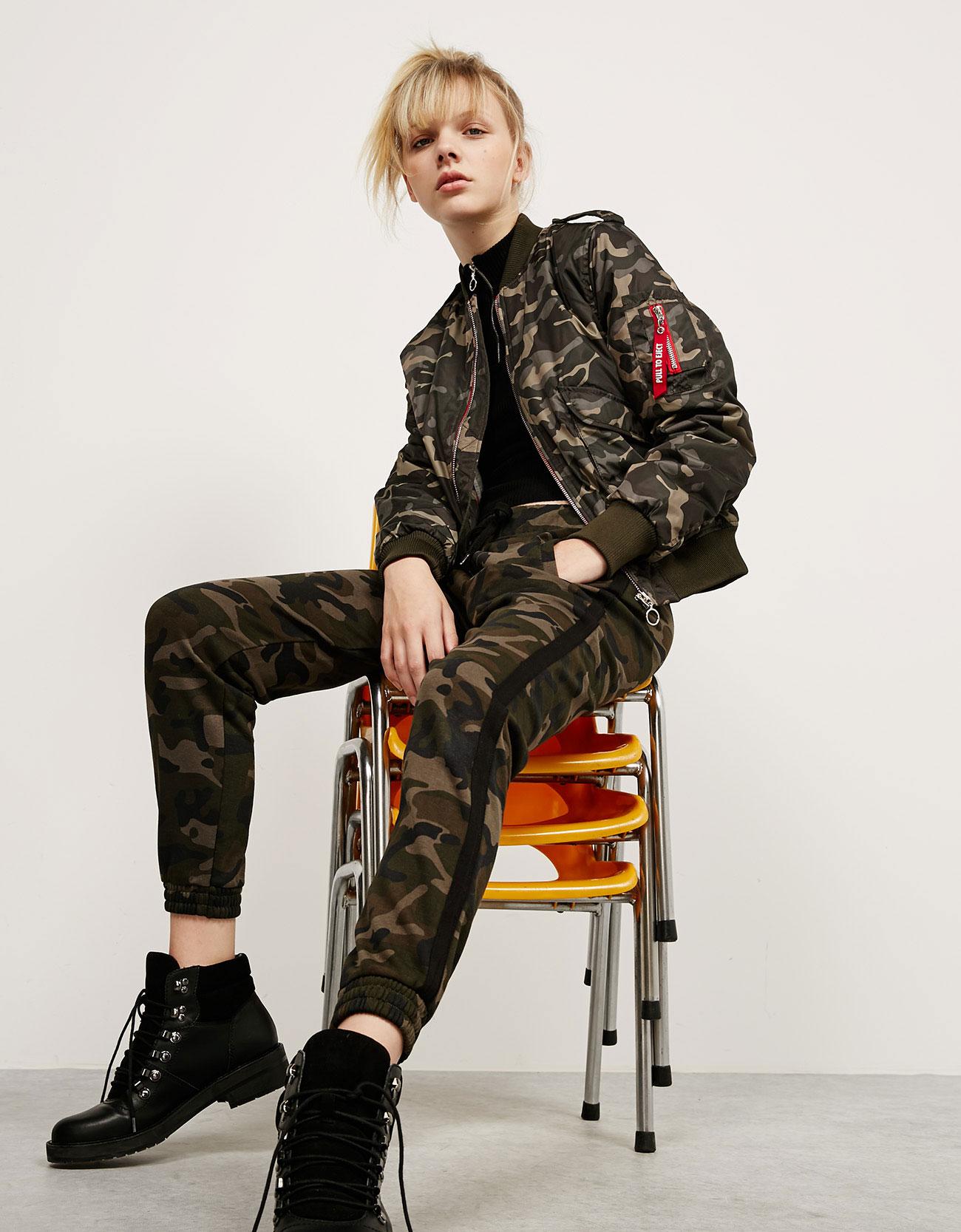 Bomber camouflage Bershka