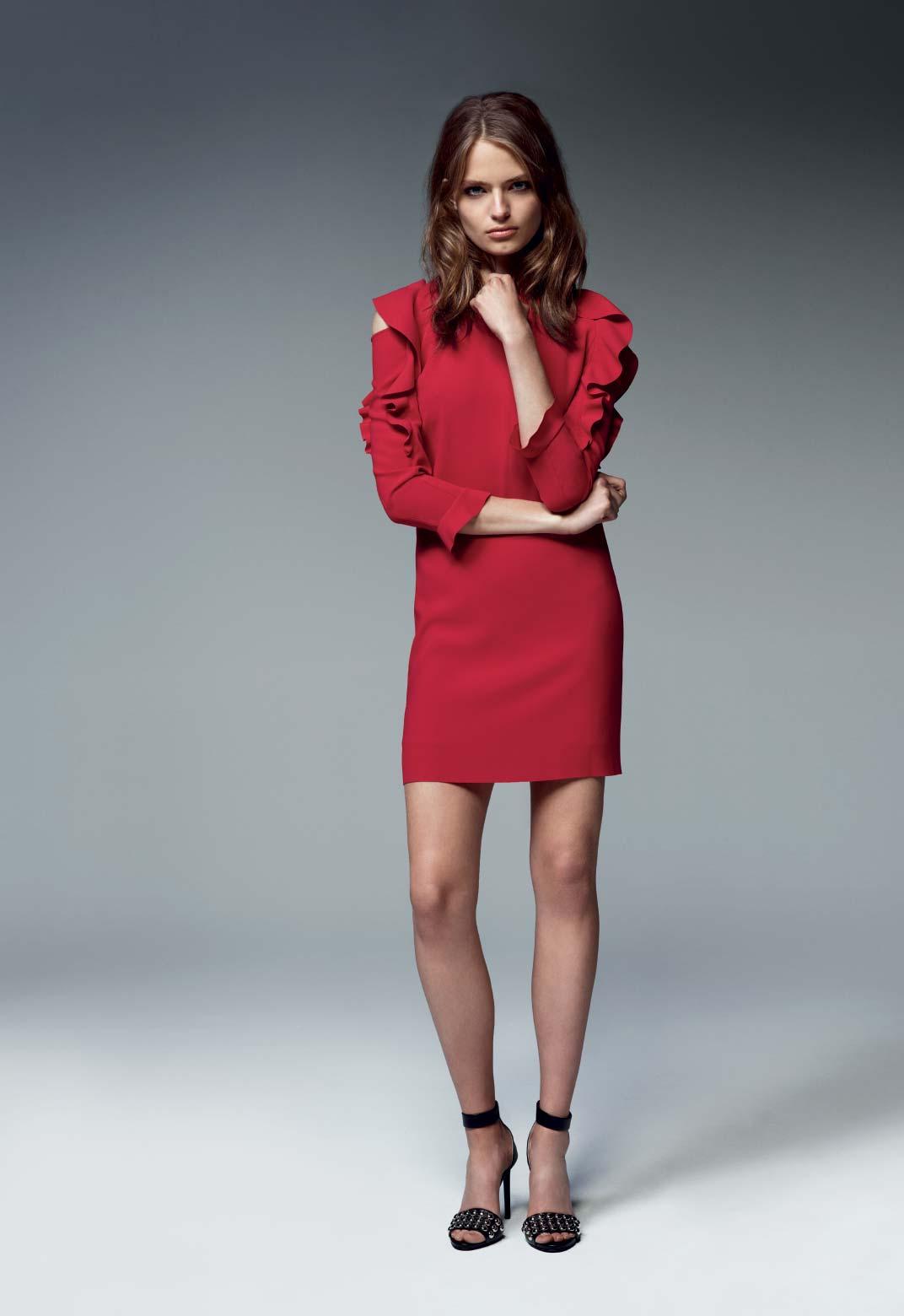 Minidress rosso Pinko