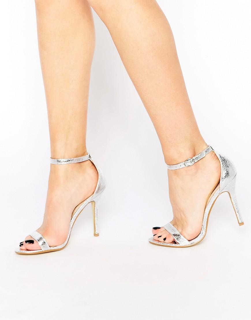 Sandali argento Glamorous
