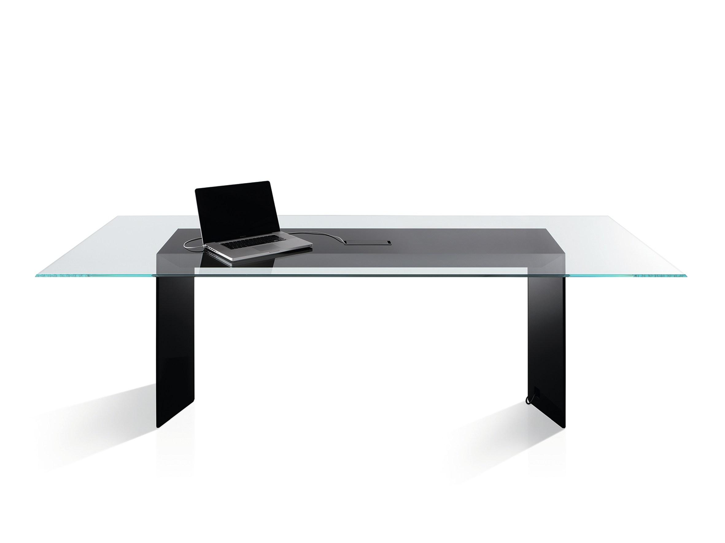 Scrivania tavolo in cristallo DOLM Gallotti&Radice