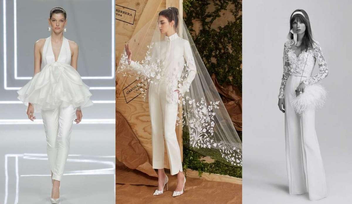 Abiti da sposa con pantaloni, la nuova tendenza [FOTO]