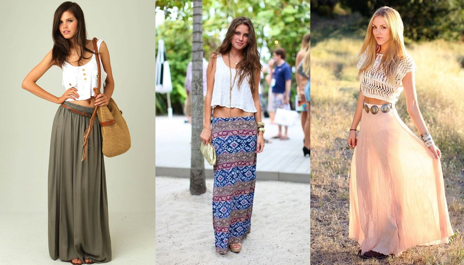 look boho chic con gonna