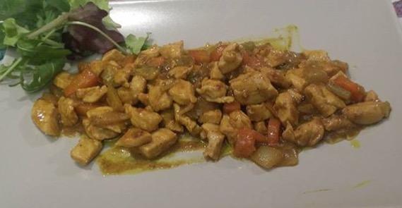 pollo verdure soia