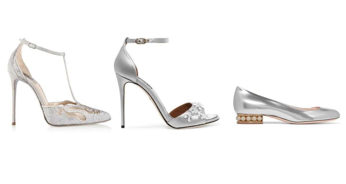 Scarpe da sposa argento  le proposte più eleganti  FOTO   ed8652ac9cb