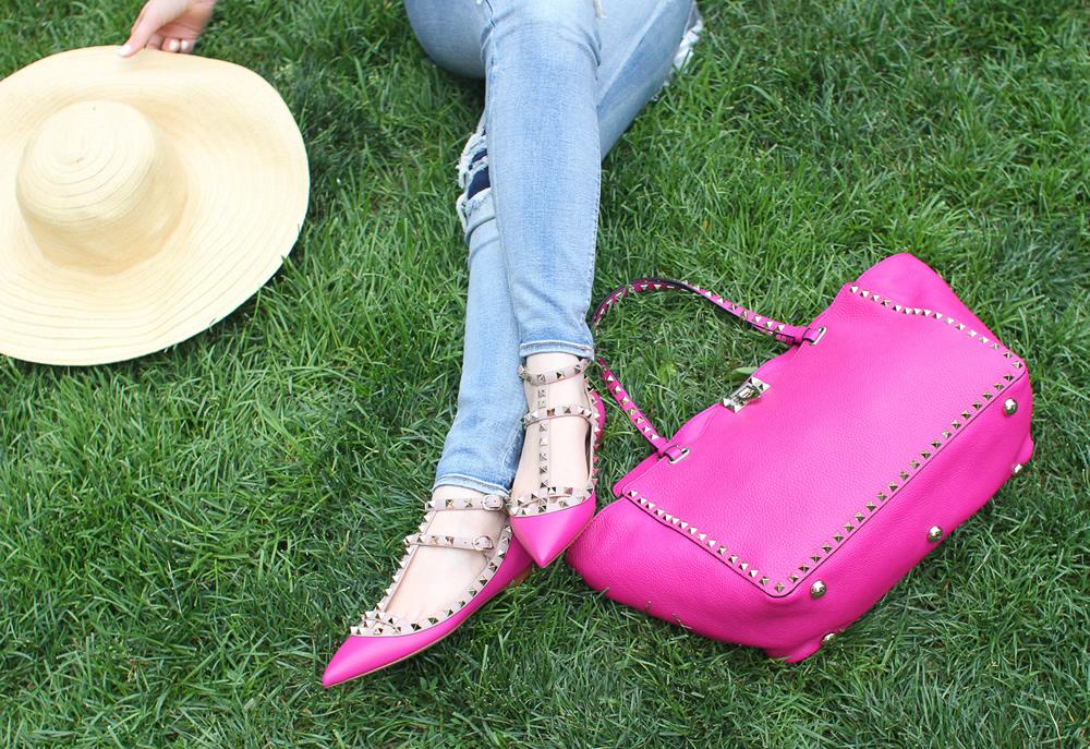 scarpe e borsa abbinate