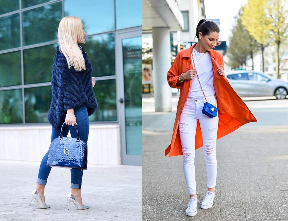 Abbinare la borsa blu