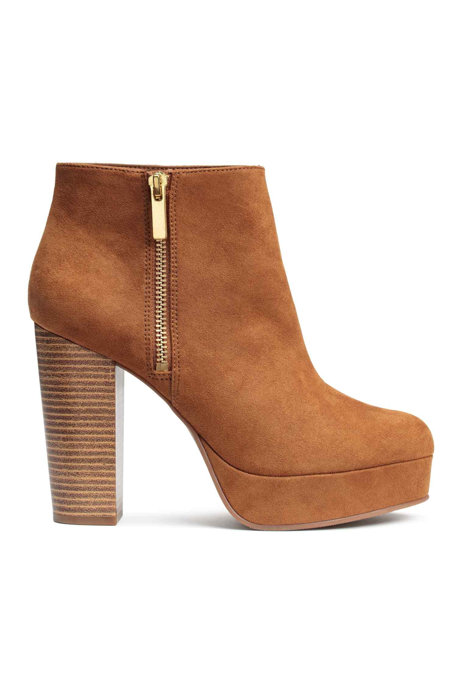 Ankle boot con plateau alto