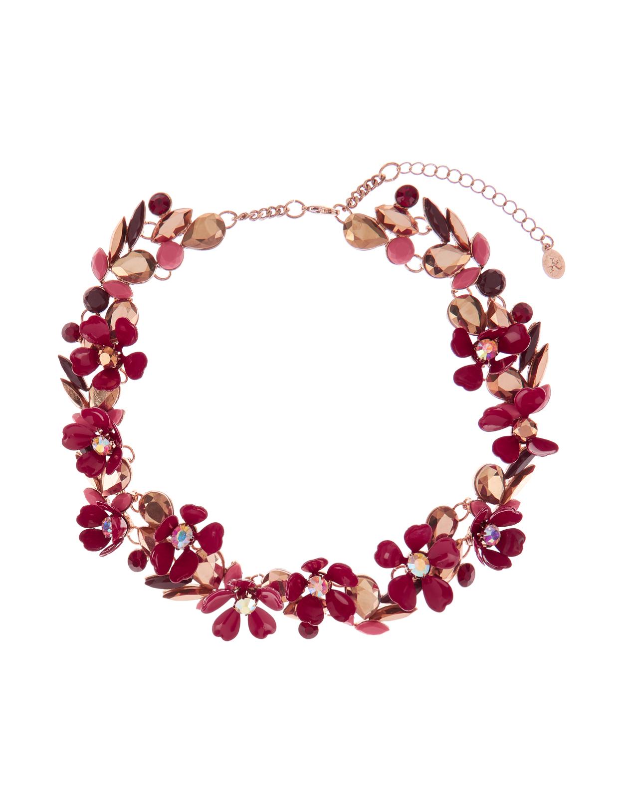 Collana con fiori rosa