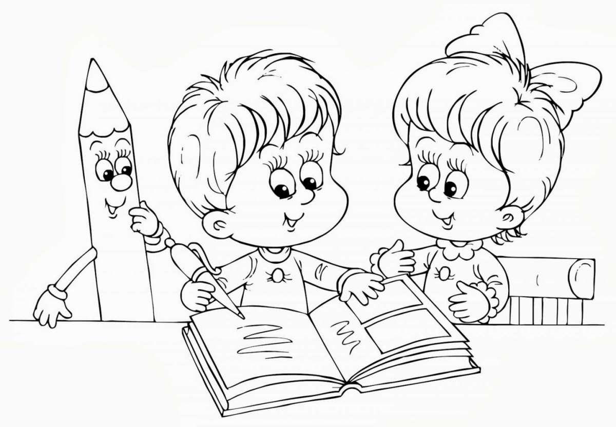 Disegno Da Colorare Bambini Che Giocano.I Disegni Da Colorare Per Il Primo Giorno Della Scuola Dell