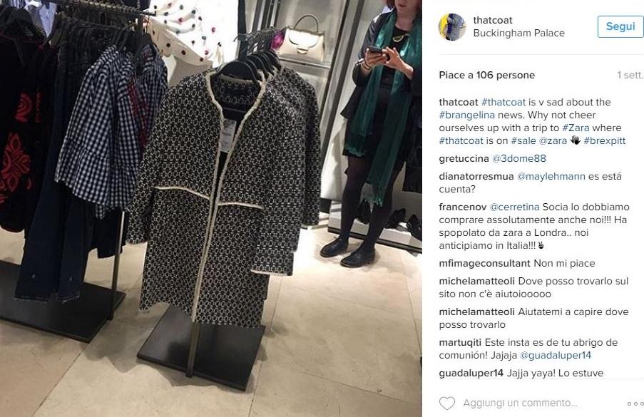 cappotto zara that coat bicolor