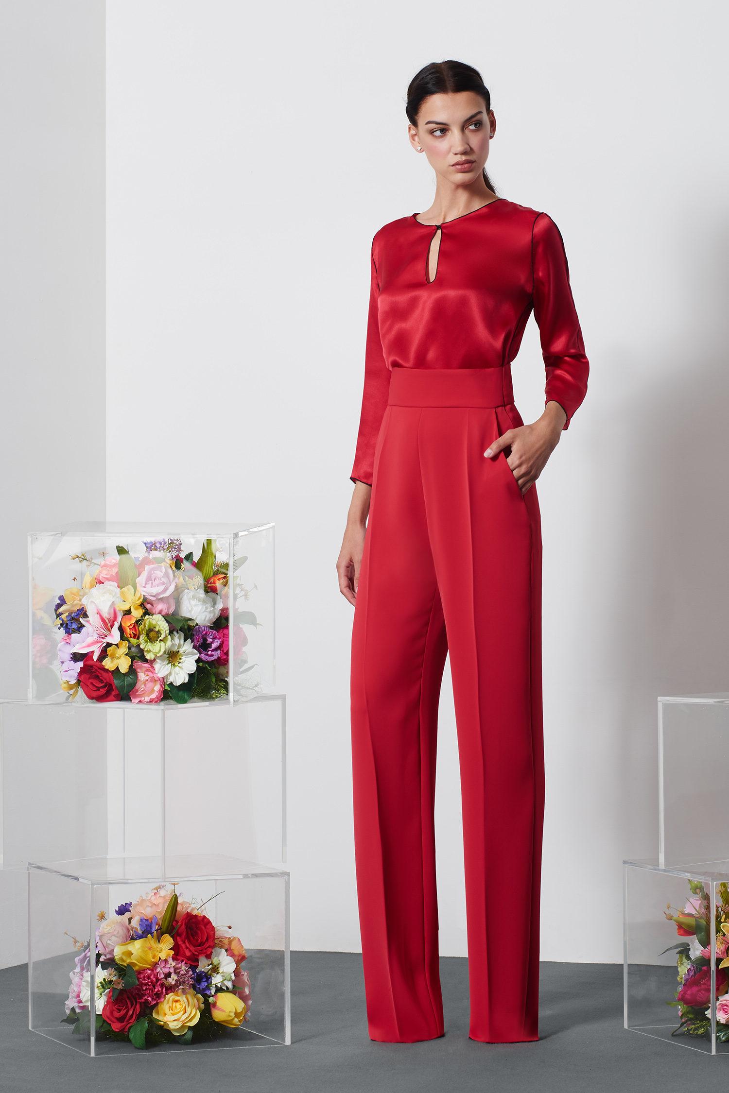completo rosso pantalone