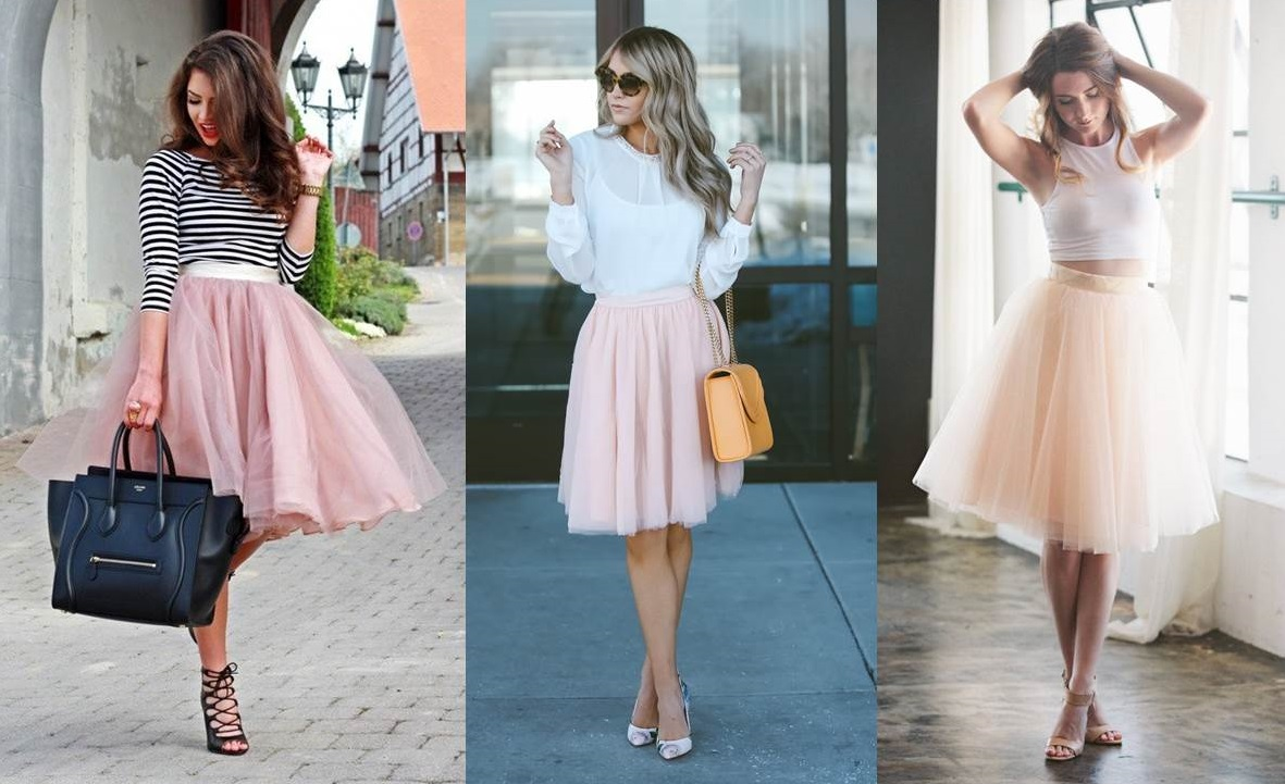 look bon ton con gonna di tulle