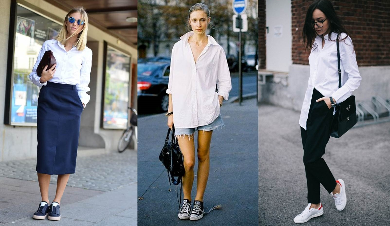 look sporty chic con camicia