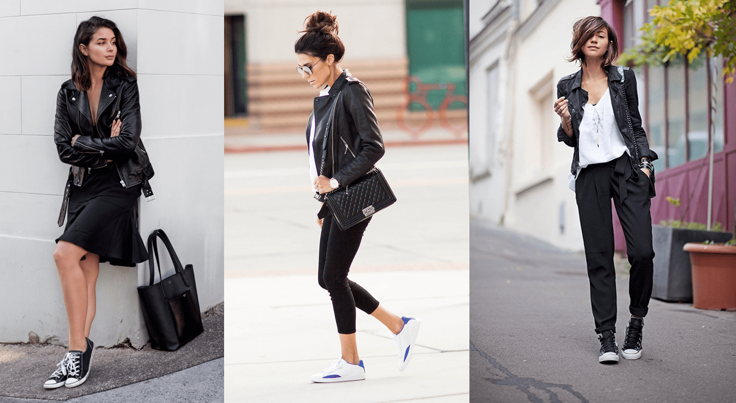 look sporty chic con giacca