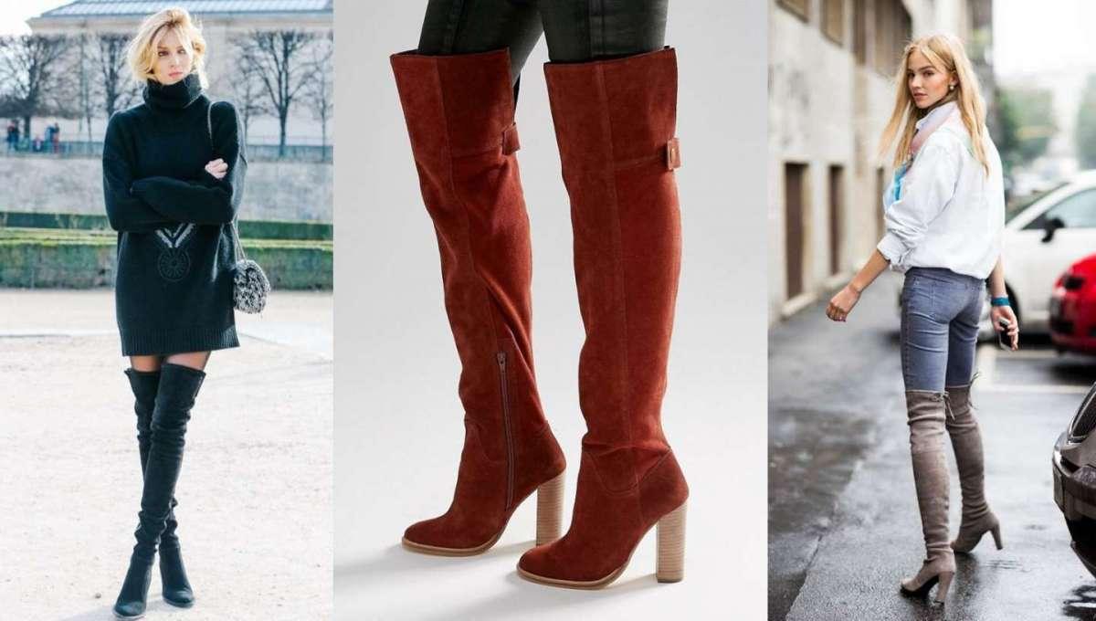 Gli stivali overknee sopra il ginocchio: la tendenza per l'inverno [FOTO]
