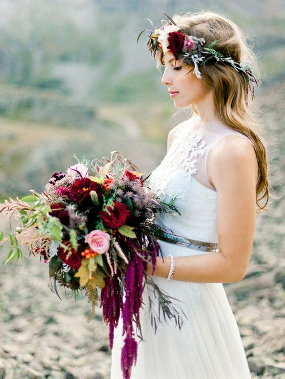 Corona floreale abbinata al bouquet