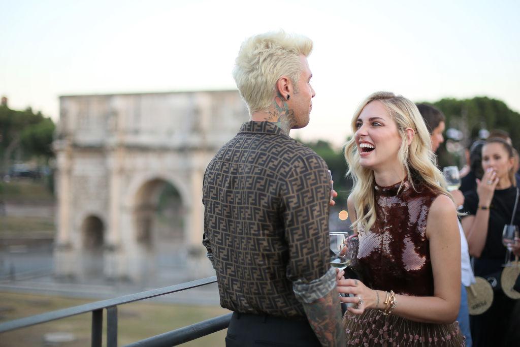 I Ferragnez durante un evento Fendi a Roma