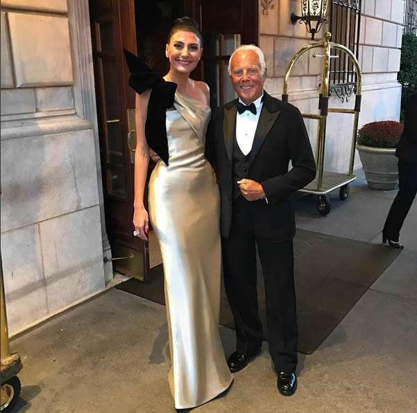 Giorgio Armani e Giovanna Battaglia