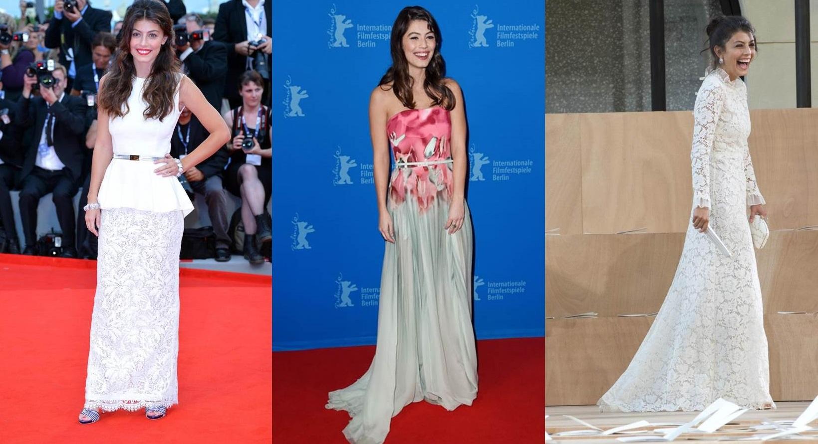 Gli abiti da red carpet di Alessandra Mastronardi