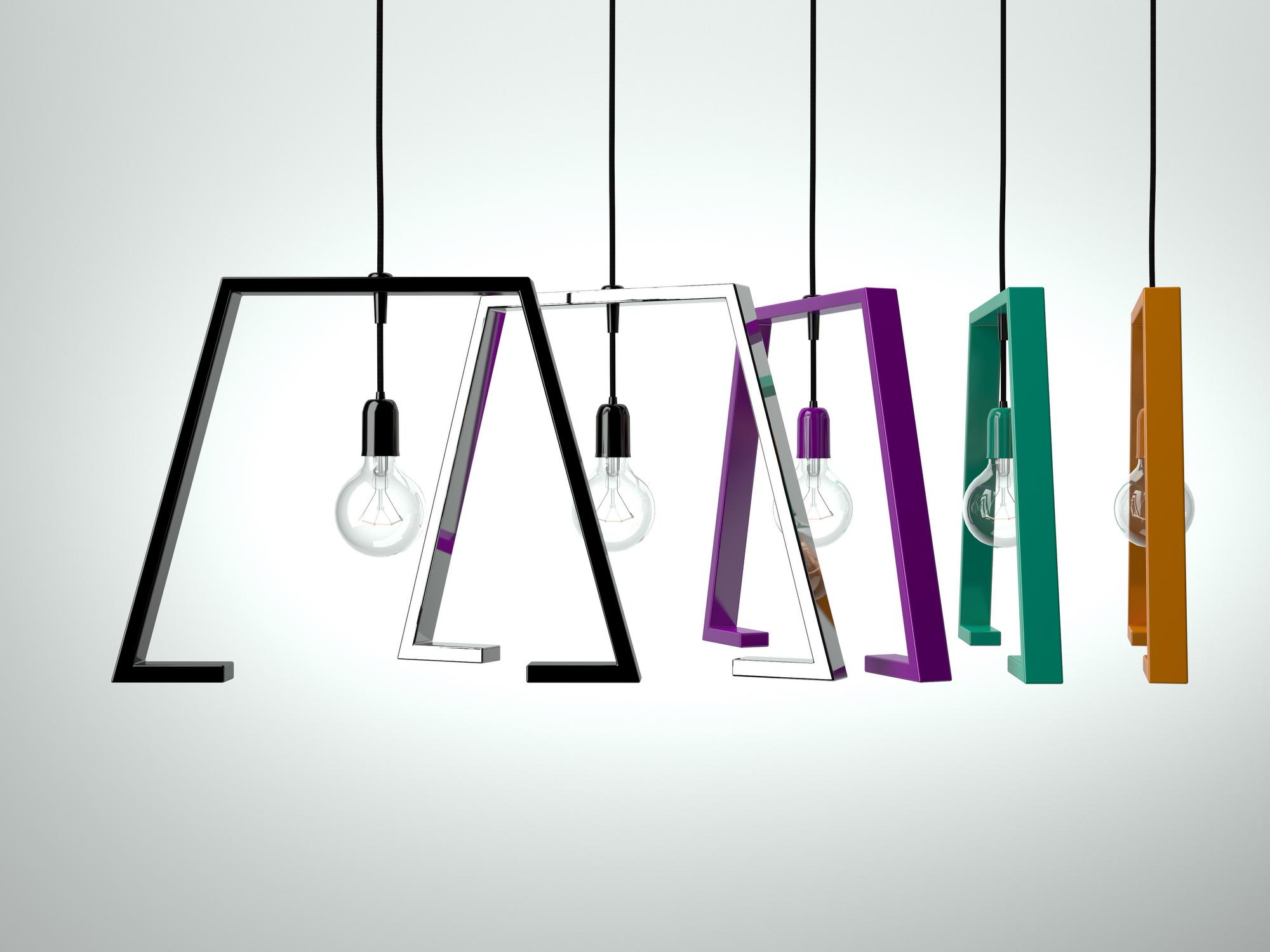 Lampada a sospensione in metallo verniciato BERLINER 1 Altinox Minimal Design