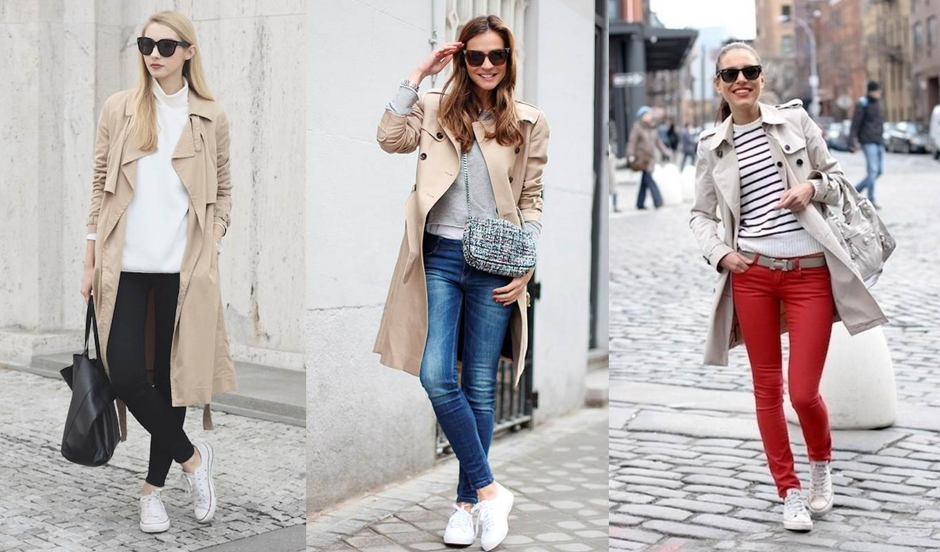 Look sporty chic con il trench
